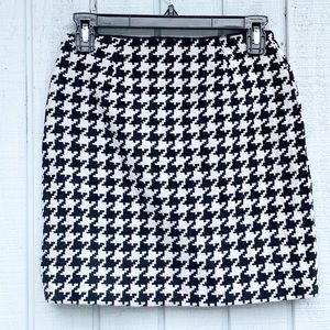 Michael Kors | Luxury Wool Houndstooth Mini Skirt